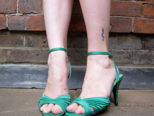 green bertie shoes