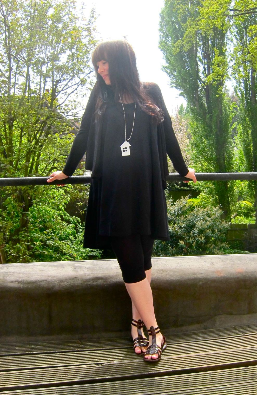 black H&M top and blouse